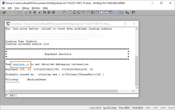Файлы дампа - WinDbg - 5 - Windows Wally