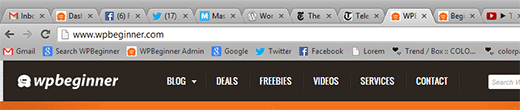 Favicons in Browser Tabs