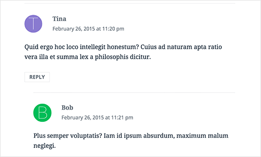Preview of discourse like first letter avatars in WordPress comments