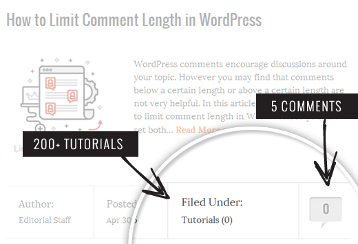 Fix Category and Comment Count