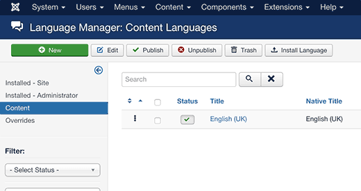 Joomla Multilingual