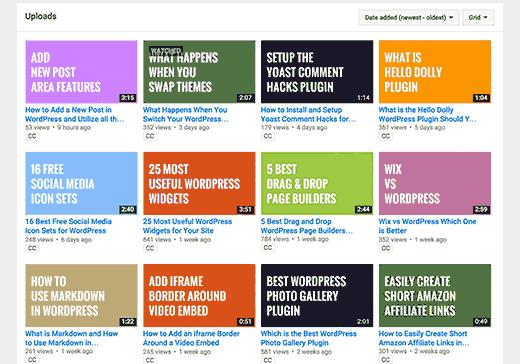 WPBeginner videos on YouTube
