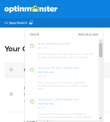 OptinMonster Notification Center