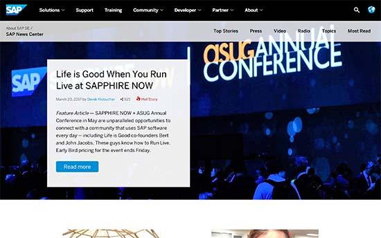SAP News Center