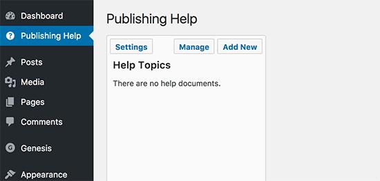 Publishing help