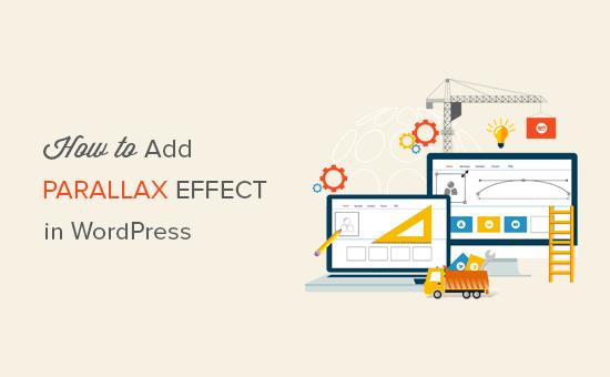Adding parallax effect to any WordPress theme