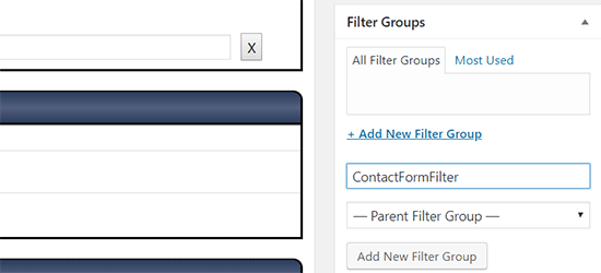 Organize your filters in groups