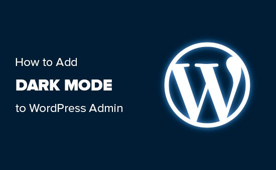 Adding dark mode to WordPress admin area