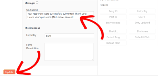 Add Shortcode to Display Quiz Score in WordPress