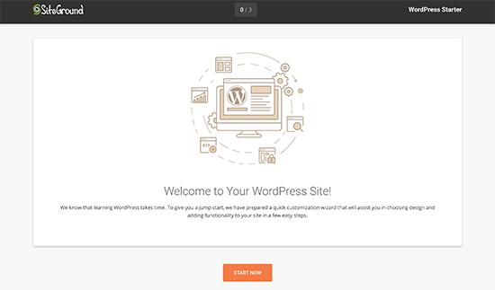 SiteGround WordPress starter