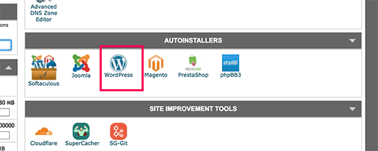 Launch WordPress installer in SiteGround