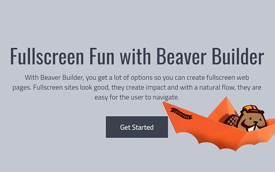 Beaver Builder Fullscreen