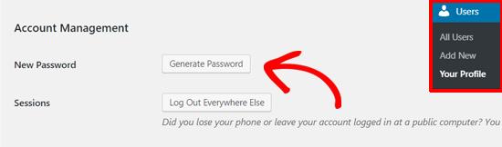 Generate Password in WordPress
