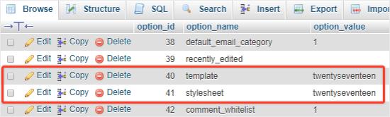 Baris template dan stylesheet