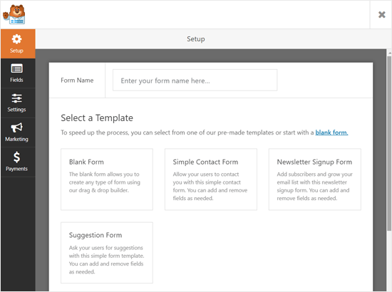 Form Templates WPForms