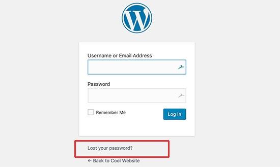 Потерянный пароль