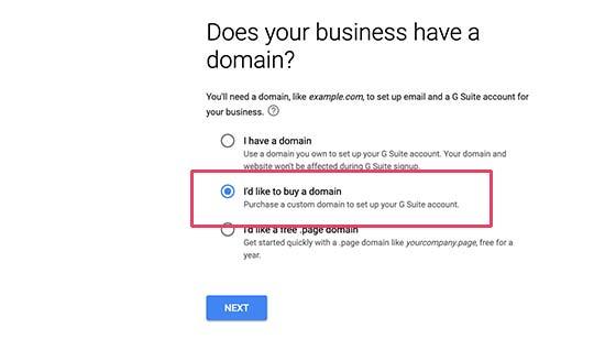 Beli nama domain