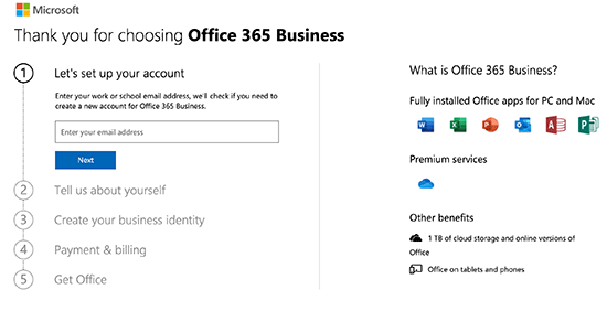 Pendaftaran Office 365