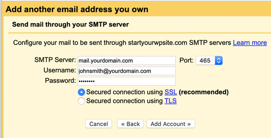 Informasi SMTP