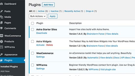 Specific plugins protected