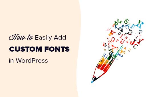 Adding custom fonts in WordPress