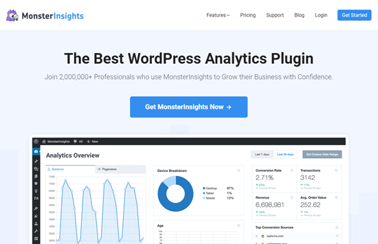 monsterinsights plugin wordpress analitik terbaik