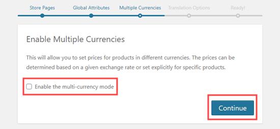 Mengaktifkan opsi multi mata uang untuk WooCommerce