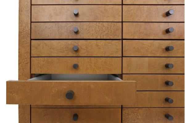 meuble de rangement avec plusieurs tiroirs par frans van praet 1980s