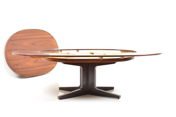 table de salle a manger rabattable en palissandre par dyrlund smith danemark 1960s
