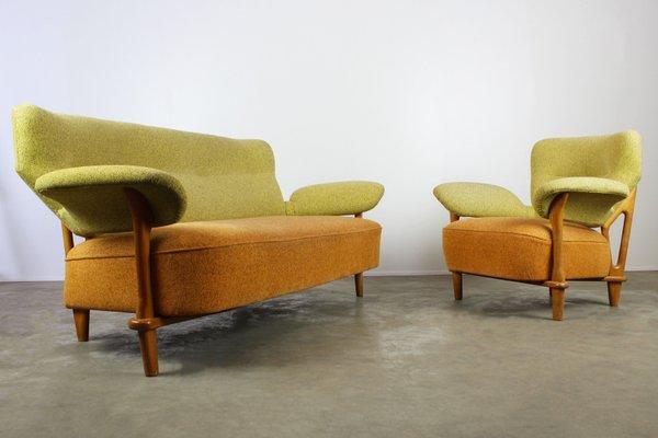 mobilier de salon f109 avec fauteuil et canape assorti par theo ruth pour artifort 1950
