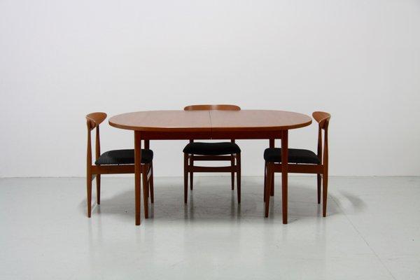 table de salle a manger vintage en teck a double rallonge par nils jonsson pour troeds