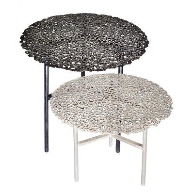 table d appoint d interieur ou d exterieur jean cast butterfly en bronze blanc par fred juul