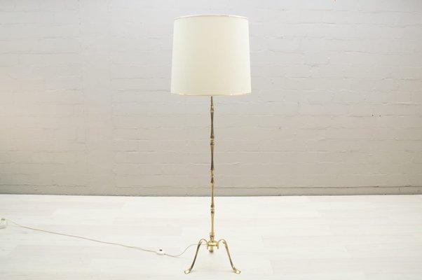 lampe de bureau tripode vintage en laiton 1960s