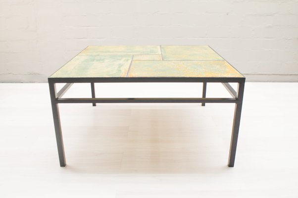 large ceramic coffee table by max sollner 1950s