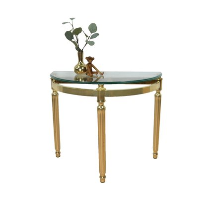 small glass side table 1960s