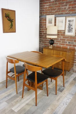 table de salle a manger pliante en chene 1960s