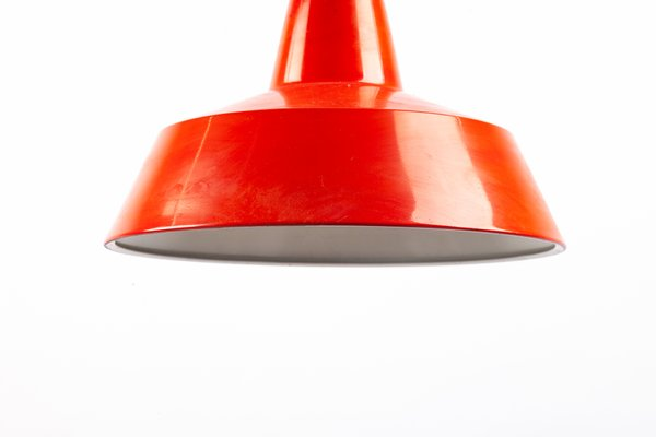 lampe a suspension en metal rouge de ikea 1960s