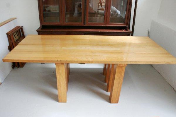 grande table de salle a manger basilica 451 par mario bellini pour cassina 1980s