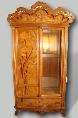 antique art nouveau french wooden wardrobe by emile galle