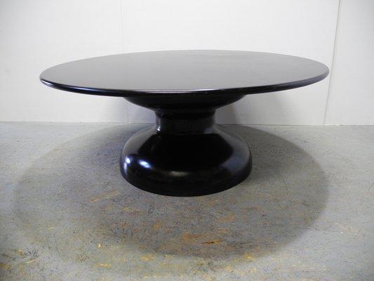 mid century space age black plastic coffee table 1960s