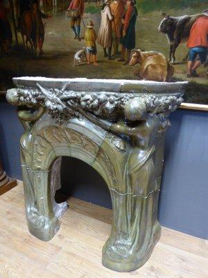 cheminee art nouveau antique par jules louis rispal