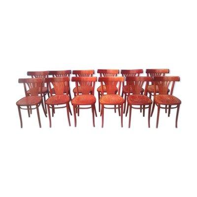 chaises bistrot vintage en bois set de 12