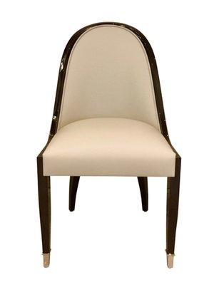 chaise de salle a manger avec dossier courbe etroit de adm art deco moderne
