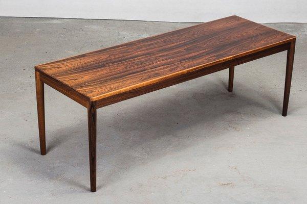 rectangular wood coffee table 1960s