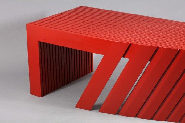 postmodern architectural root veneer coffee table from wieser vienna 1980s