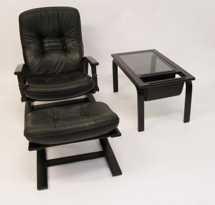 lounge chair ottoman table set by ingmar relling for westnofa 1960s