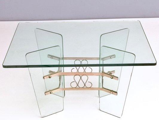 rectangular glass coffee table by pietro chiesa for fontana arte 1940s