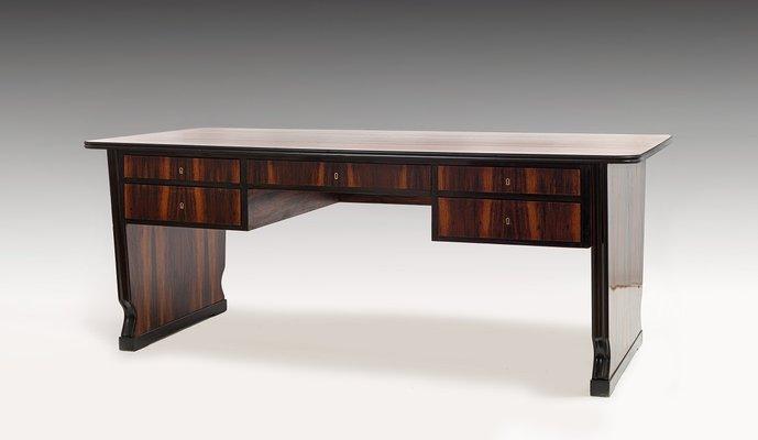 large art deco rosewood desk 1930s