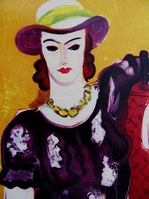 femme a la chaise rouge lithografie reprint von henri matisse 1954