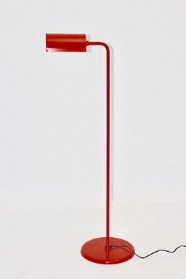 lampadaire vintage rouge par abo rander danemark annees 70